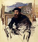 elf Canvas Paintings - Monet_Self_Portrait_In_His_Atelier